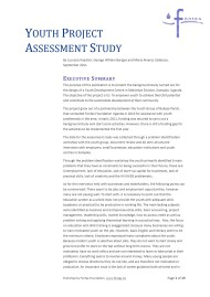 Youth Project Assessment Study