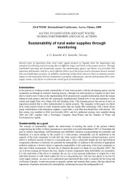 Sustainability of Rural Water Supplies Through Monitoring