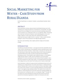 Social Marketing for Water – Case Study from Rural Uganda