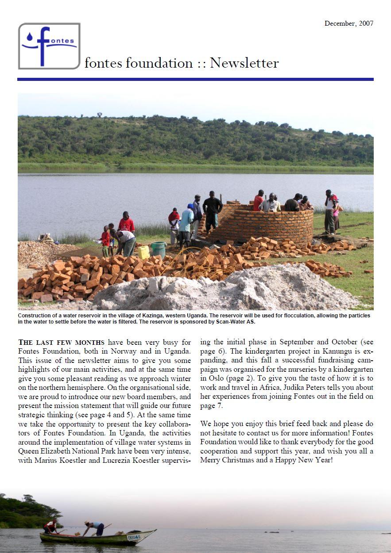 Newsletter December 2007