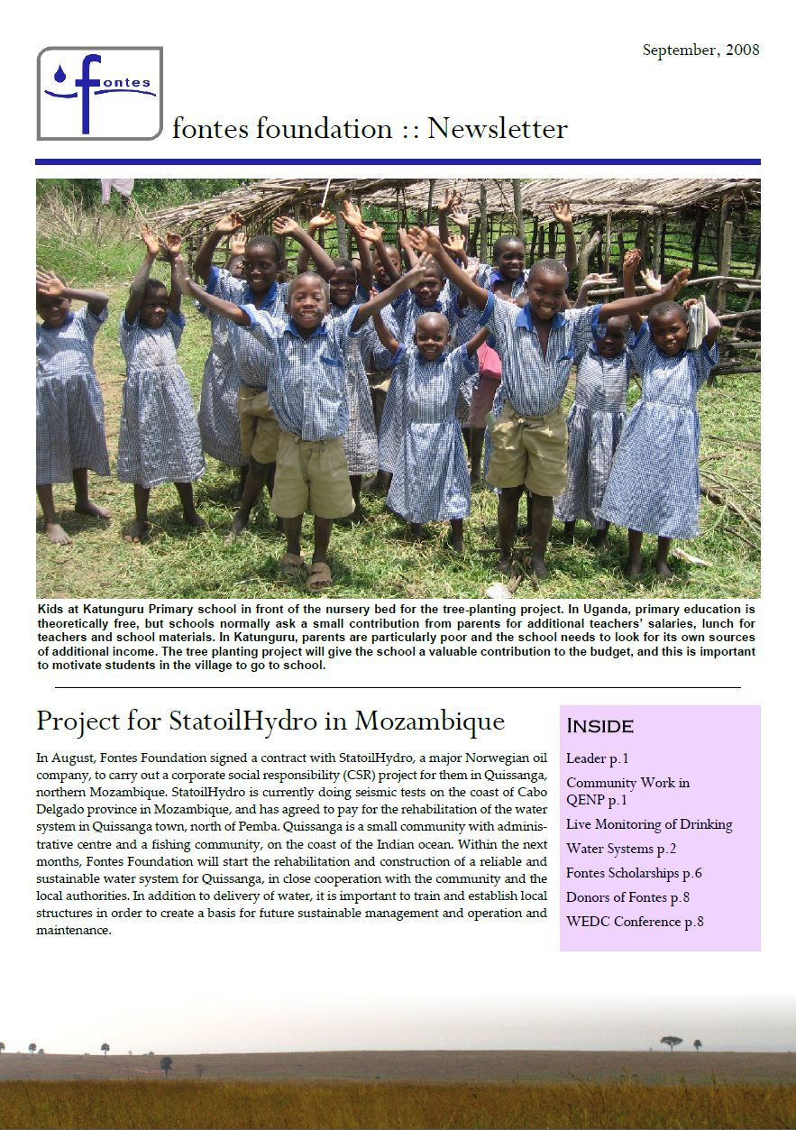 Newsletter September 2008