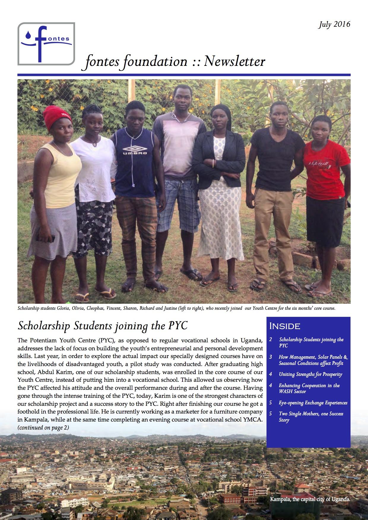 Newsletter 2016-07