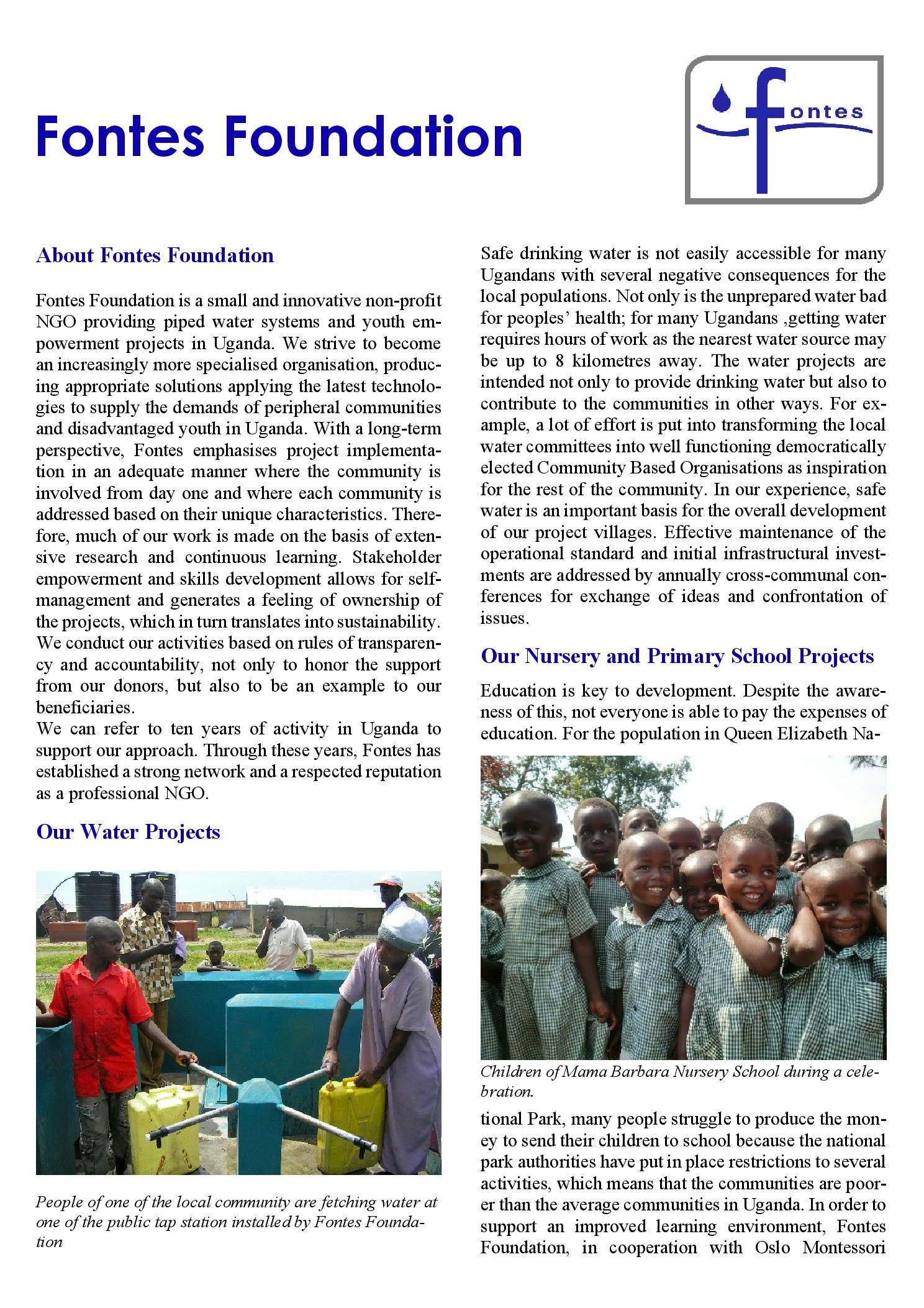 Fontes Foundation Flyer