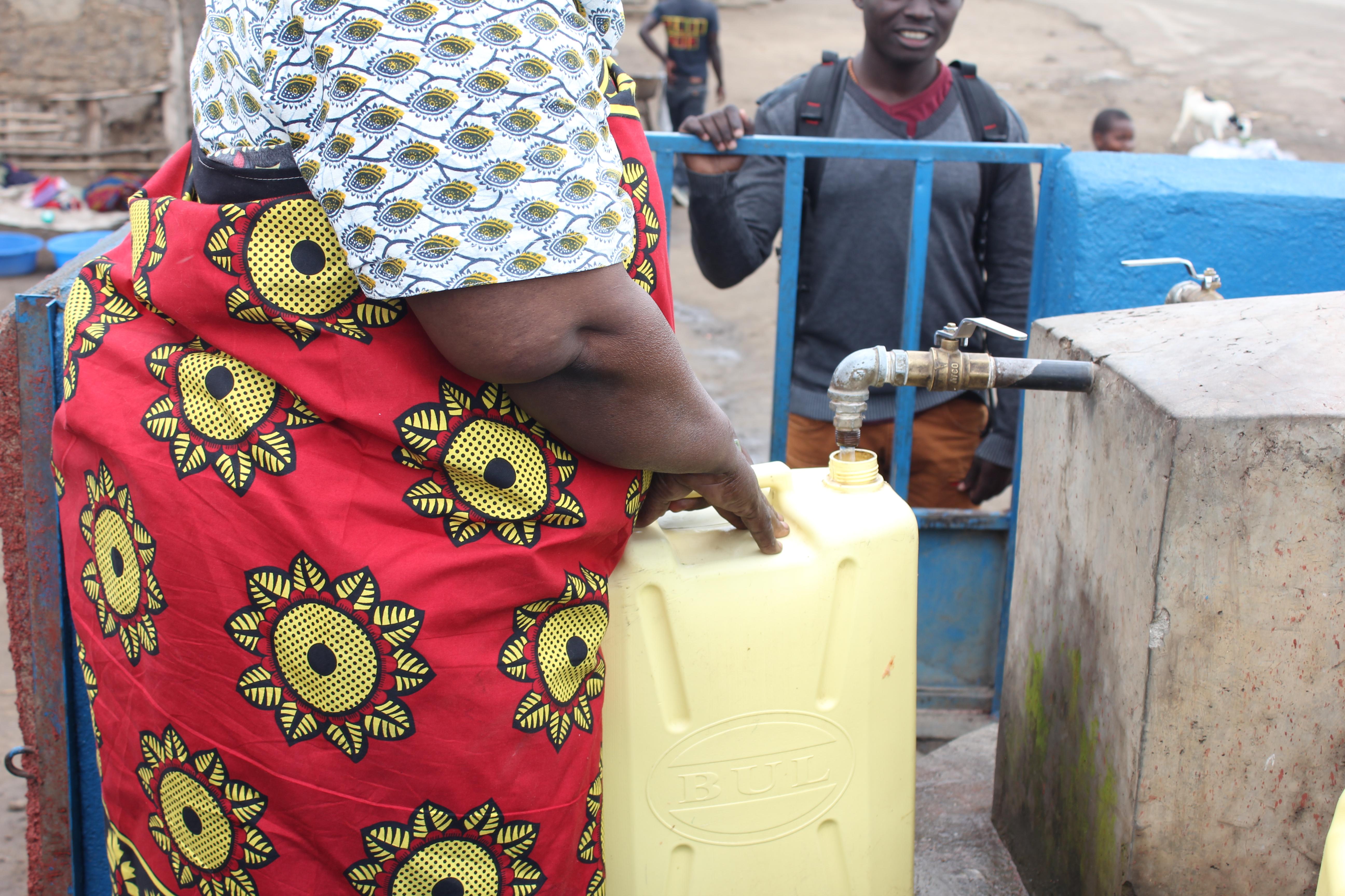 The new 'gate valve' taps in Katunguru-Kasese