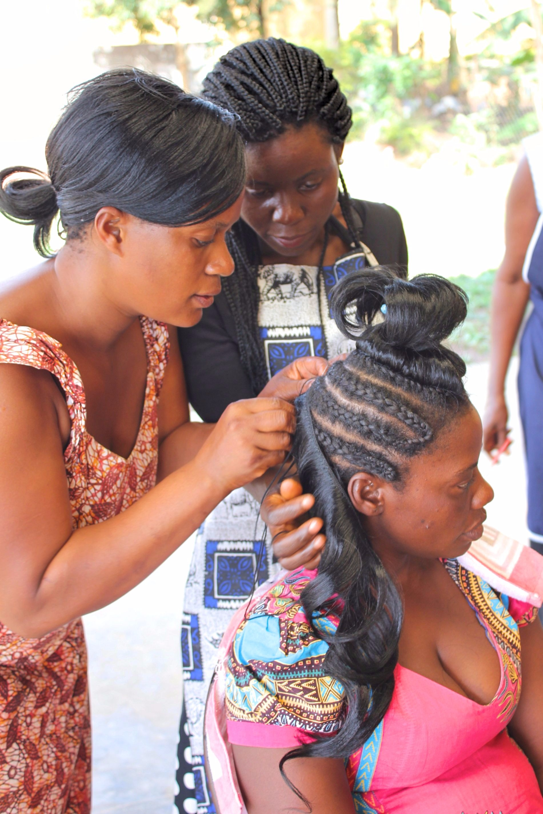 SMP Hairdressing Exam at Fontes Youth Centre
